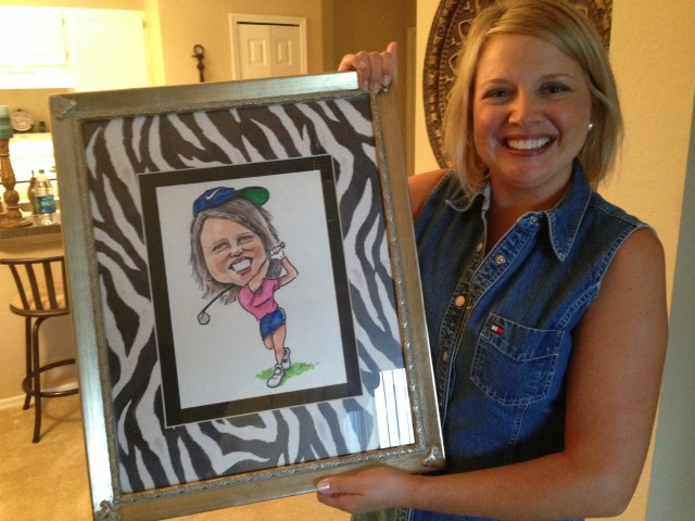 Bob Sell daughter with drawing