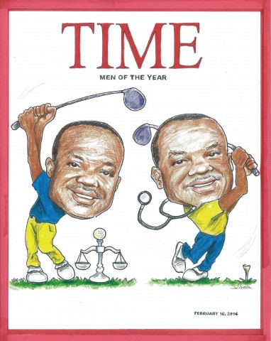 Toks caricatures of twin brothers