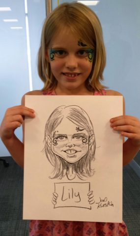 Caricature girl