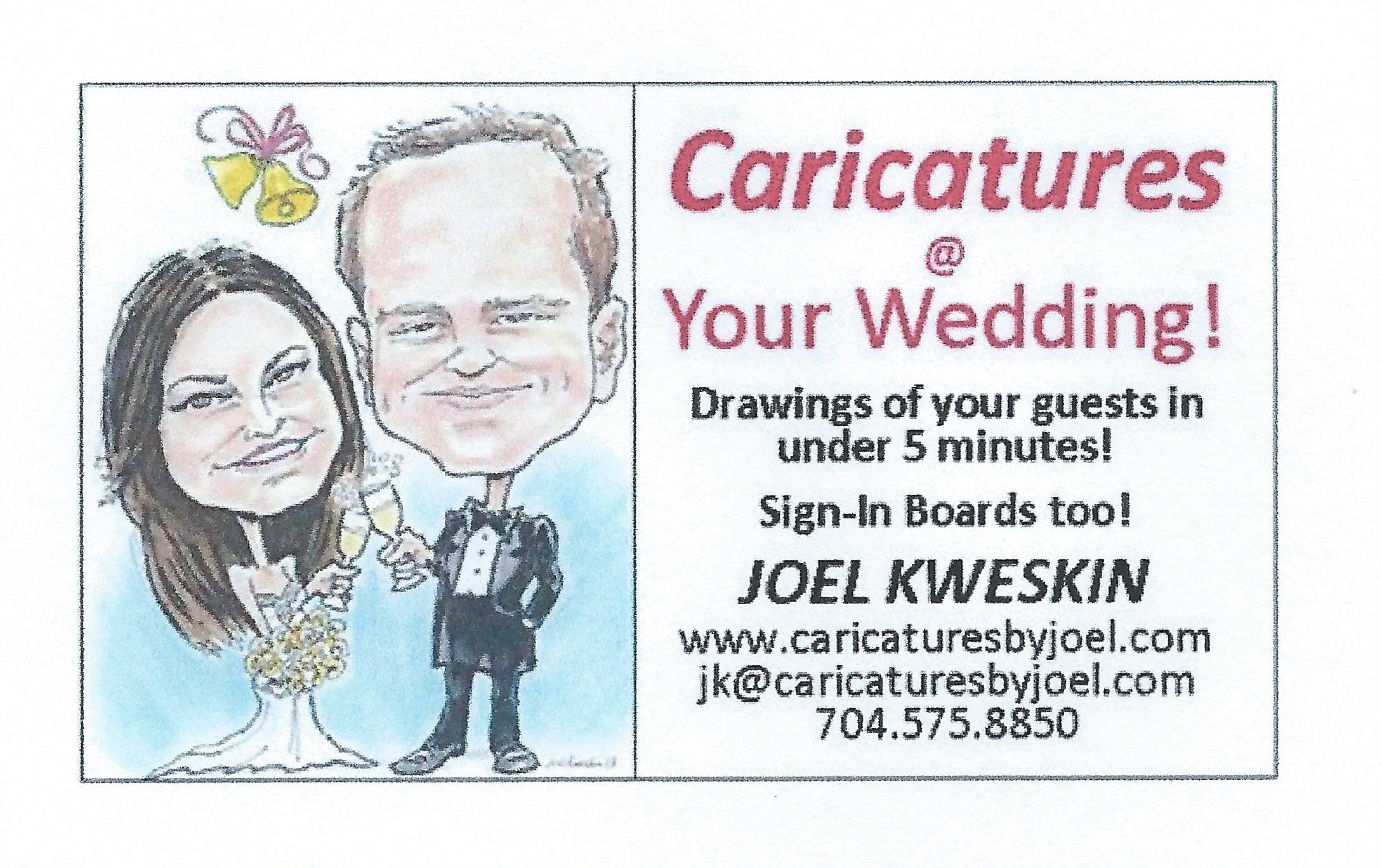 Weddings, Mitzvahs & More | Caricatures By Joel